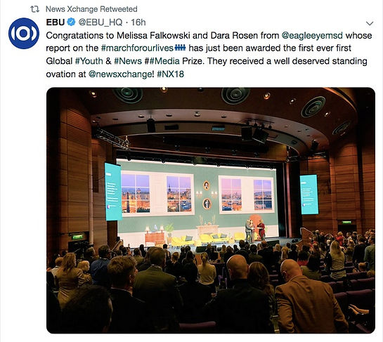 EBU tweet re ovation for prize winners.j