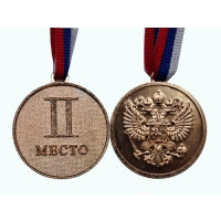 Медаль II место.