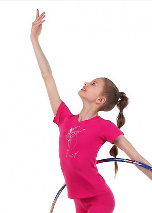Футболка гимнастка с обручем