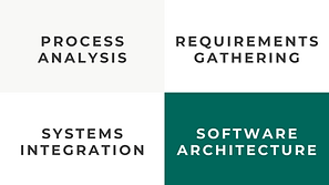 Services: Process Analysis, Requirements Gathering, Systems Integration, Software Architecture