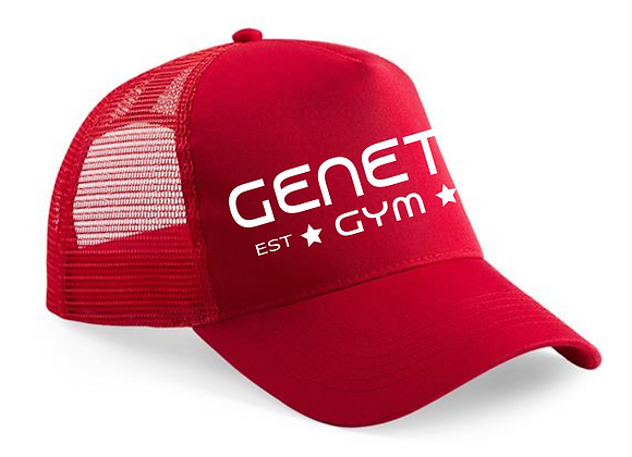 Red Embroidered Trucker Cap