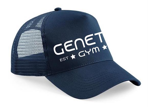 Navy Blue Embroidered Trucker Cap
