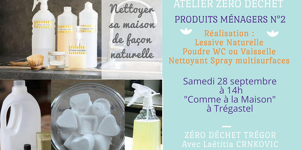 Lessive, Spray Nettoyant Multi-surfaces, Poudre Wc ou Vaisselle