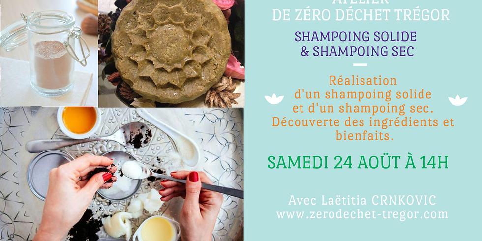 Salle de Bain Zéro Déchet : Shampoing Solide et shampoing Sec