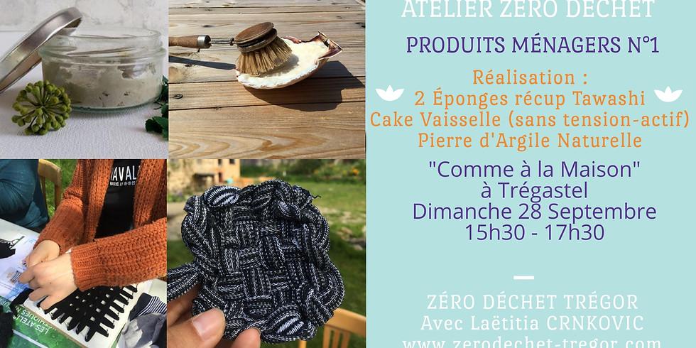 Cake Vaisselle, Pierre d'Argile et 2 éponges Récup Tawashi