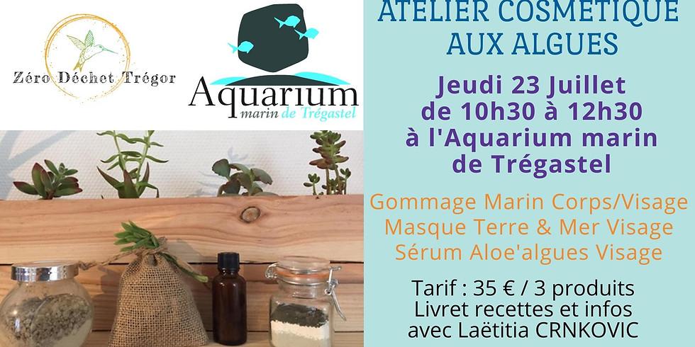 Atelier Cosmétique aux algues bretonnes à l'Aquarium marin de Trégastel