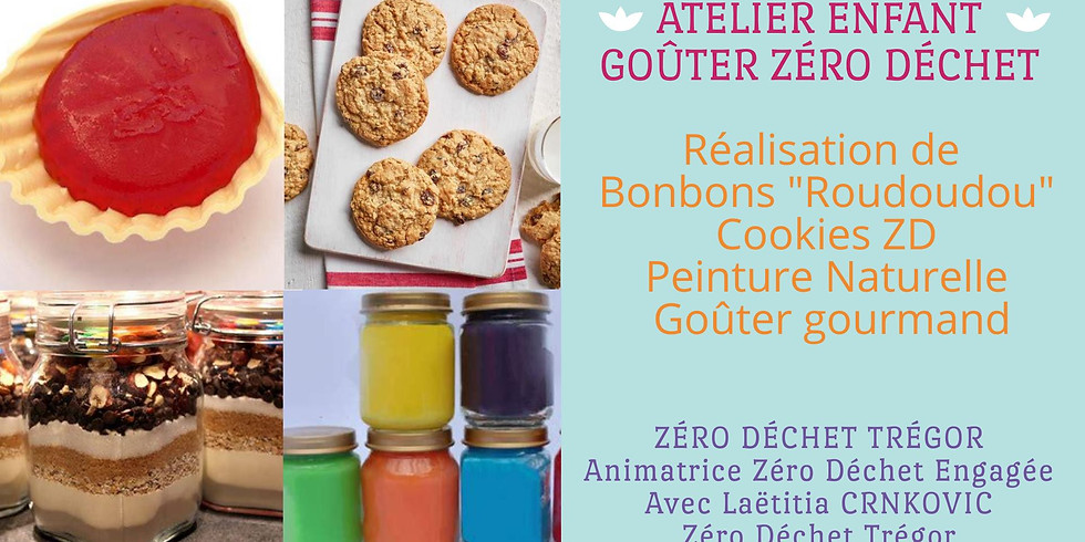 Atelier enfant : Goûter Zéro Déchet : Bonbons, cookies, peinture