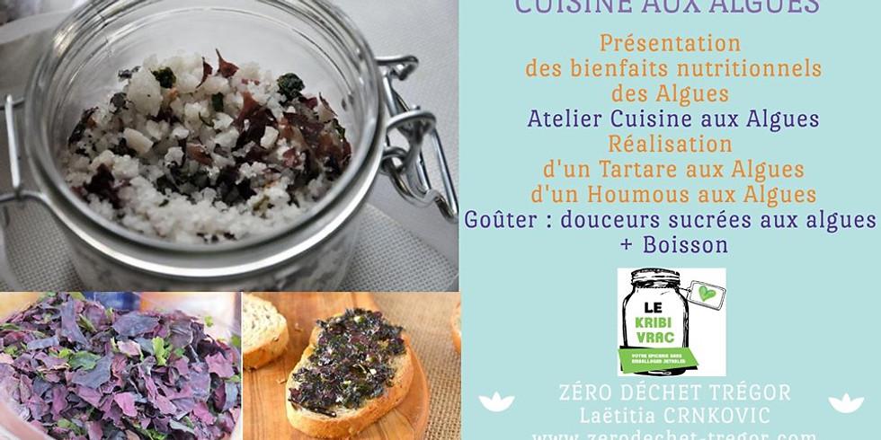 Cuisine aux Algues Bretonnes : Tartare et Houmous aux algues