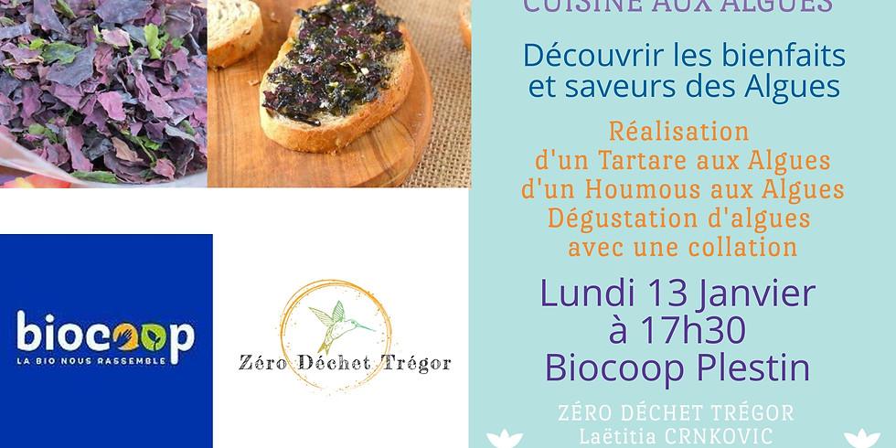 Cuisine aux algues : Tartare et Houmous