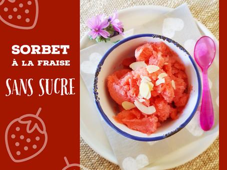 Sorbet à la fraise sans sucre