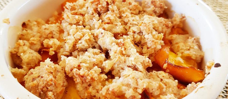 Crumble d'abricot aux flocons de sarrasin (sans gluten)
