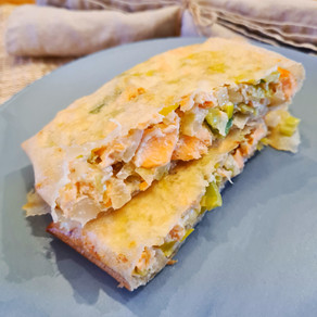 Bricks saumon, poireaux et ricotta