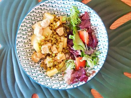 Sauté de porc à l'ananas et aux petits pois