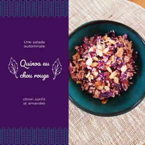 Salade de quinoa au chou rouge et citron confit
