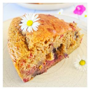 Gâteau au sarrasin et aux fruits rouges