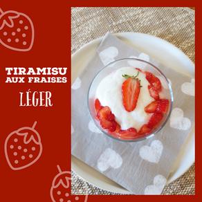 Tiramisu léger à la fraise