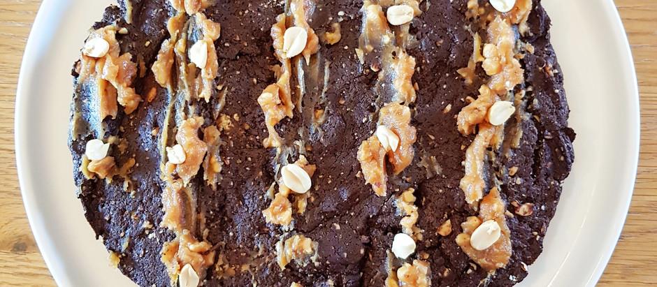 Moelleux chocolat cacahuètes, sans beurre ni sucre