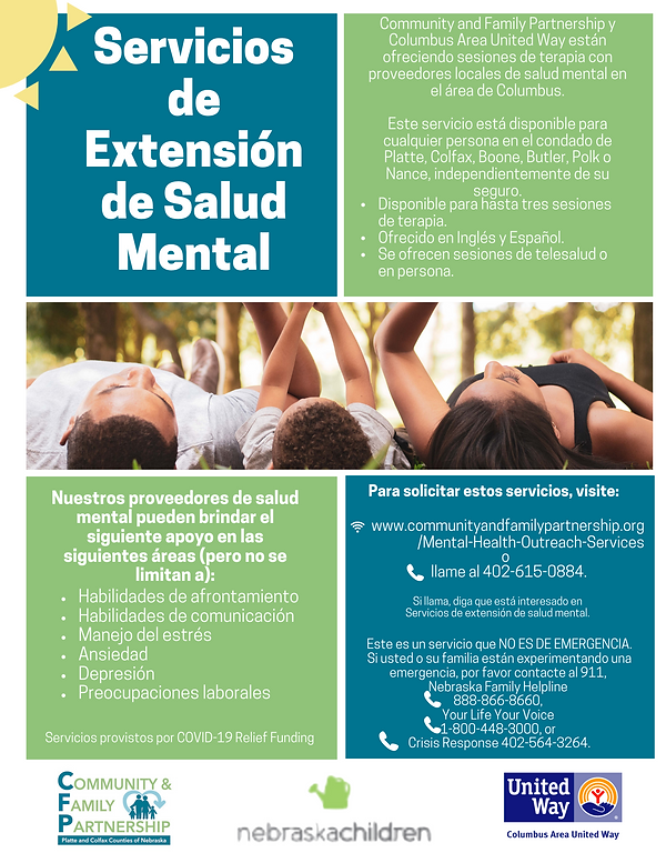 sp Mental Health Outreach Services flyer