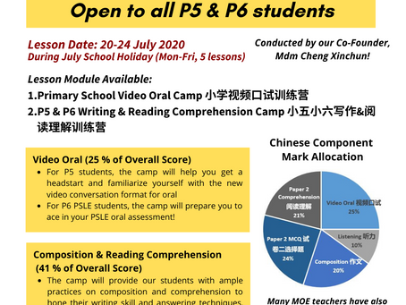 Etern Education July Holiday Class 益通华文七月假期班