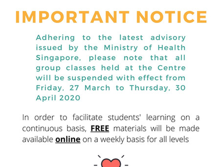 Important Notice: Covid-19 Update