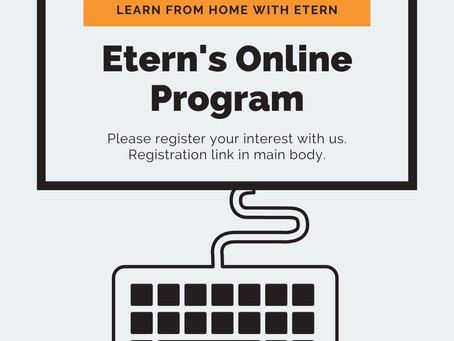 Etern's Online Program - Registration Is Open!