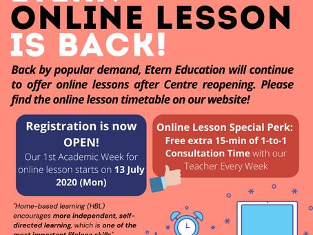 Etern Online Class is Back!