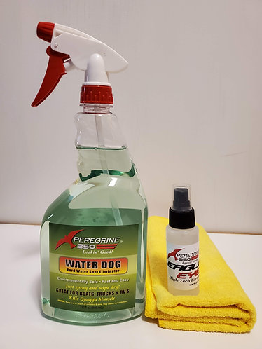 Water Dog Hardwater, Spot Remover, 2oz Eagle Eye and Microfiber cloth