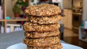 Banana-Oat-Pecan Cookies