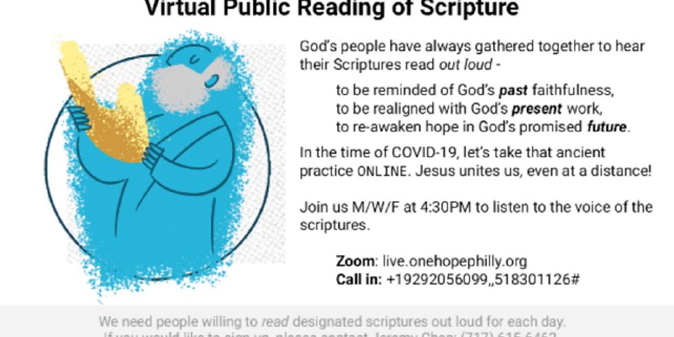 Virtual Public Reading of Scripture
