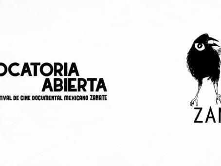CONVOCATORIA: 14 Festival de cine documental mexicano Zanate