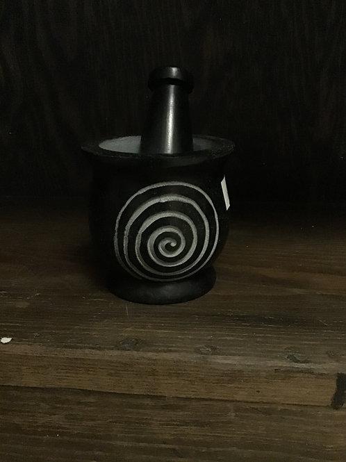 Spiral Mortar and Pestal