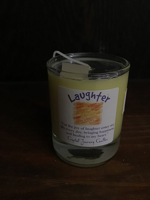 Laughter votive candle