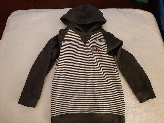 Striped Hoodie Grey