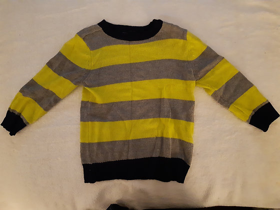 Children's Place Grey & Yellow Striped