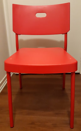 Ikea Red Dining Chairs (Set of 6)