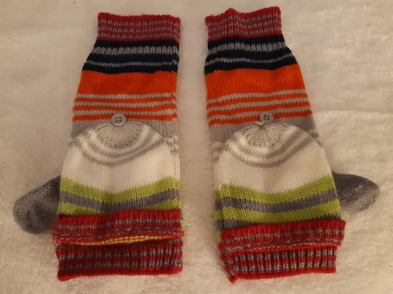Striped Fingerless Mittens