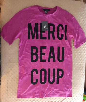 Merci Beaucoup TShirt Purple (Size L)
