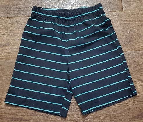 Joe Fresh Navy Striped Shorts (Size 6)