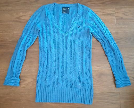 American Eagle Light Blue Knit (Size L)