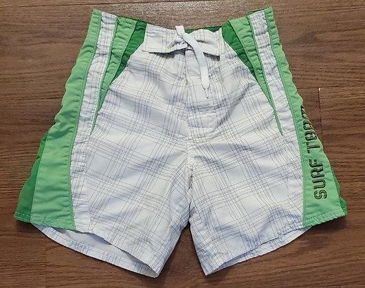 Athletic Works Green & White Swim Shorts (Size 5)