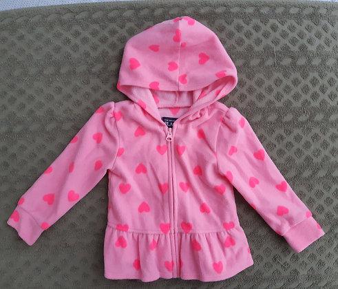 Children's Place Pink Heart Fleece