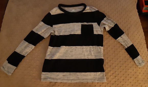 H&M Black & Grey Stripe