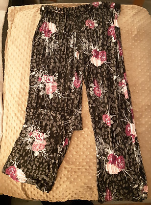 Flower Pyjama Pants (Size M)
