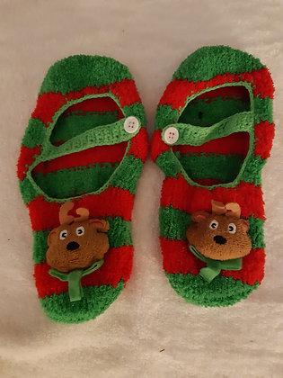 Reindeer Fleece Slippers