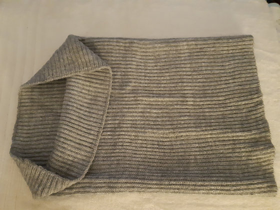 Grey Knitted Tube Scarf
