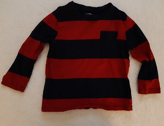 George Navy & Red Striped