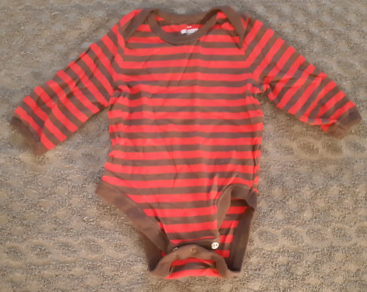 Old Navy Red & Brown Striped