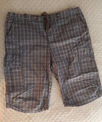 Brown Plaid Shorts (Size 8)