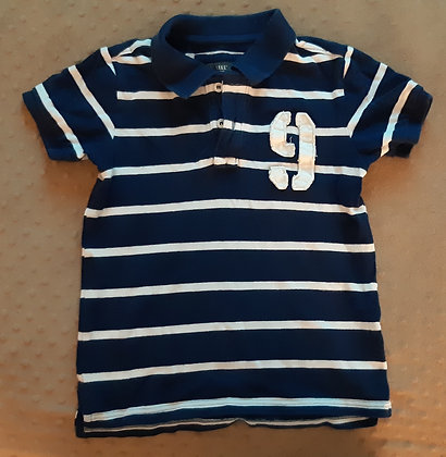 H&M Blue Striped Golf