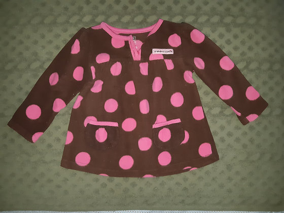 Carter's Brown & Pink Dot Fleece